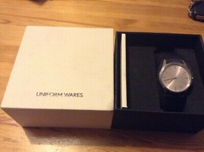 Uniform Wares C33/PSI W1 Polished Steel Wristwatch NIB