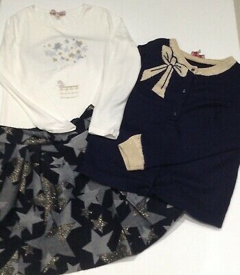 Lili Gaufrette Girls 3 Piece Skirt Outfit Age 10