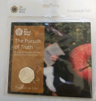 2017 Royal Mint Sir Isaac Newton 50p Fifty Pence Coin Pack Sealed Uncirculated