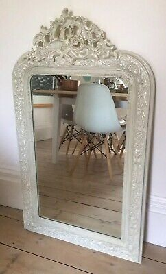 LARGE ORNATE FRENCH MIRROR ANTIQUE ORIGINAL FRAME 1.06m x 0.6m