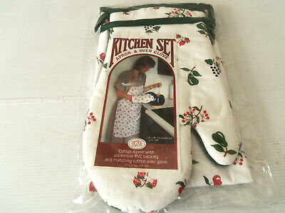 Kitchenalia -Apron & Oven Glove (New In Packaging)(100% Cotton)