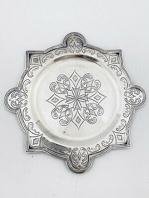 Mexican Sterling Silver Arts & Crafts Dish Sanborn c.1931