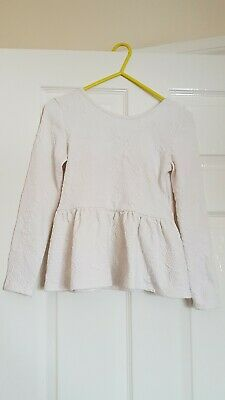 Girls Pretty River Island White Flower Patterned Top Age 9/10 Years