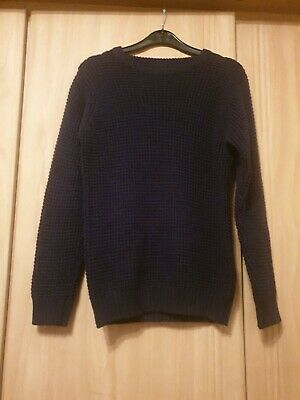 Next Boys Navy Knitted Jumper New Age 11-12 Without Tags