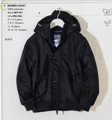 Bnwt Next Age 3 Years Height 98Cm Shower Resistant Black Bomber Style Jacket