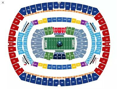 GIANTS VS DOLPHINS 2tix SEC 129 ROW 37 LOWER LEVEL GREAT SEATS!!! NO RESERVE