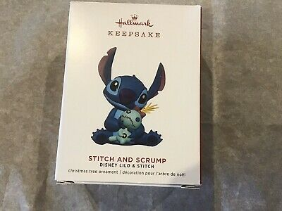 Hallmark 2019 Stitch and Scrump Disney Lilo and Stitch Ornament Mint in Box!