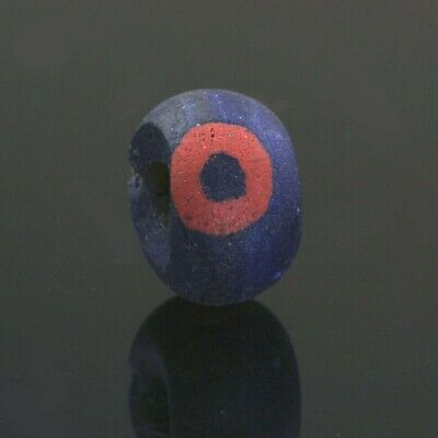 Ancient glass beads: Hellenistic eye bead,3-2 century BC
