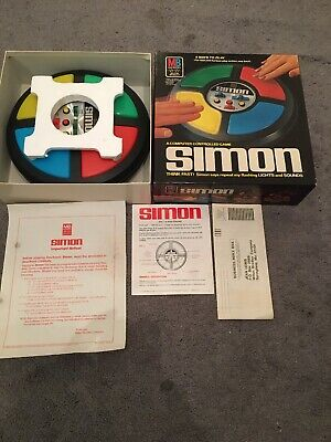 Vintage 1978 Milton Bradley Simon Computer Controlled Game & Box Complete Tested