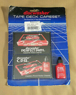 Vintage 1985 Discwasher Tape Deck Careset Head Cleaner NEW cassette