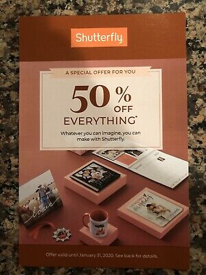 Shutterfly Code: 50% Off Everything, One Regular Priced Order, Exp 01/31/20