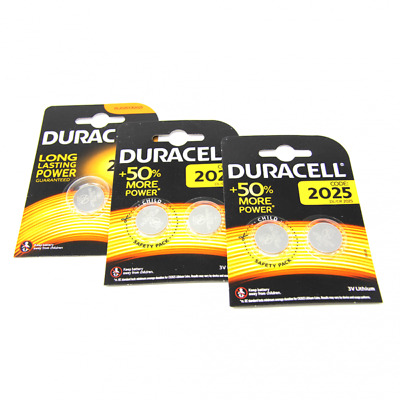 5x Duracell CR2025 3V Lithium Button Battery Coin Cell DL/CR 2025 Exp. 2026 / UK