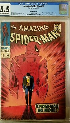 Amazing Spider-Man #50 CGC 5.5 1st Appearance of Kingpin UK Variant HTF