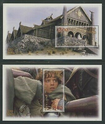 New Zealand 2001 Lord of the Rings S/S set Sc# 1750a-55a NH