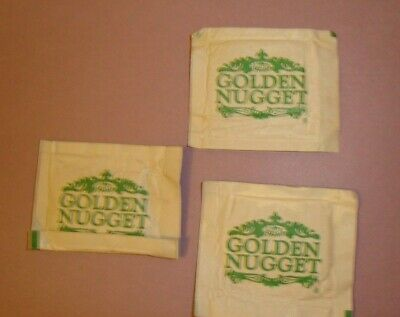 GOLDEN NUGGET casino hotel Atlantic City Green white finger towelette USA wetnap