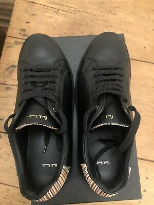 Paul Smith Black  Basso Leather Trainers