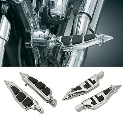 Krator Tombstone Motorcycle Foot Peg Footrests Chrome L/&R For Suzuki Marauder 800 1997-1999 Front