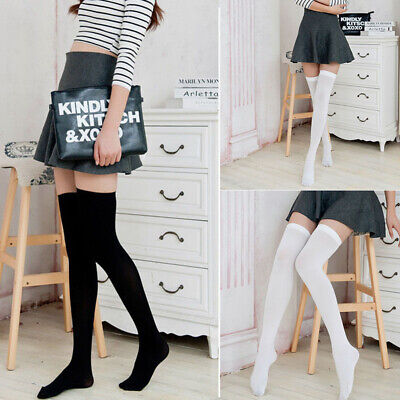 Girls Ladies Long Socks Over The Kneet Thigh High Socks Women Tights Stockings