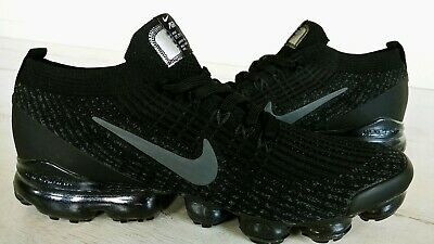 Nike Air Vapormax Flyknit 3 Triple Black Men's Running Shoes 11US 45EUR NEW