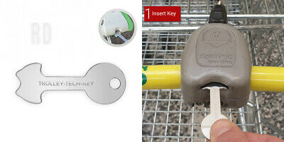 One Pound Master Token Shopping Trolley Key Coin | Release Supermarket...