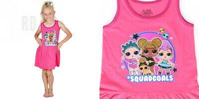 L.O.L. Surprise ! LOL Dolls Dress for Girls | Sleeveless Pink 9-10 Years