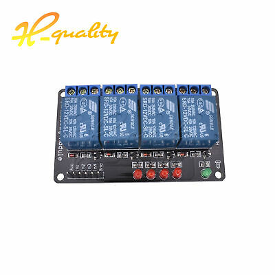 1pcs 12v 4 Channel Relay Module Indicator Light LED Arduino PIC ARM DSP AVR M65