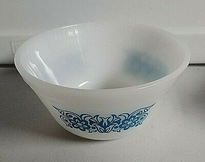 Vintage Blue Flower / Floral Federal Mixing  Bowl 5'' Like New
