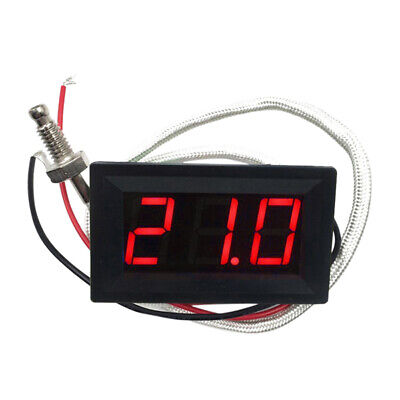 1Pc Thermocouple Digital Temperature Thermometer Red DC 12V 48x29x23mm