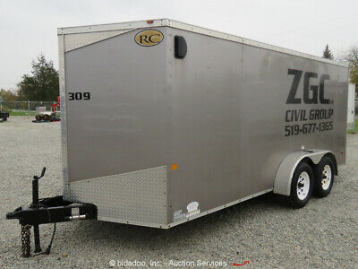 2013 Royal Cargo Trailers RWT7X16TA2 16' T/A Enclosed Utility Trailer bidadoo