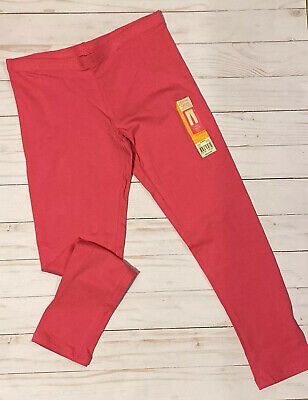 Faded Glory Girls Size Medium 7/8 Ankle Leggings  Pink Lounge Stretch Pants New
