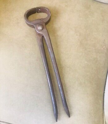 Antique Hand Forged Horseshoe Puller & Spreader Blacksmith Pliers