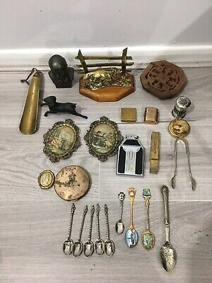 Vintage Small Job Lot of House Clearances Items for Reuse Or Resale Car Boot Etc