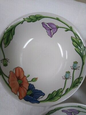 Villeroy & Boch Amapola Set of 3 Soup Cereal Bowls plus 3 with chipped edges (6)