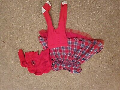 Girls Christmas/new year/hogmanay Outfit Aged 3-6 Months From Nutmeg