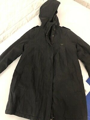 Girls Black Roxy Winter Coat Age 8 In Great Condition
