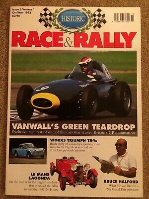 Historic Race & Rally Vol 1 No 6 Oct/Nov 1993 Vanwall, Works Triumph TR4  Unread
