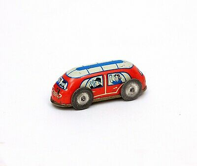 Vintage Tiny Tin Bus from a Wind-up Set or Penny Toy Germany or USA