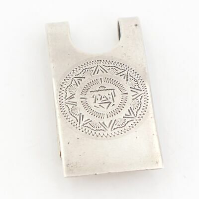 VTG Sterling Silver - MEXICO Etched Mayan Warrior Money Clip - 14g