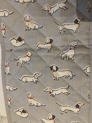 Cath Kidston Dachshund Sausage Dogs Grey Print  Double Oven Gloves New