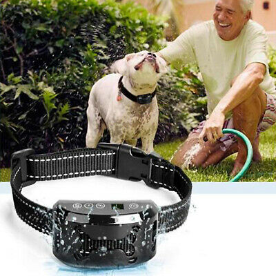 Pet Dog Waterproof Rechargeable Anti Barking Collar 7 Level Vibration Training