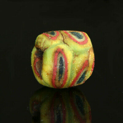 Ancient glass beads: Medieval Byzantine / Islamic mosaic glass bead