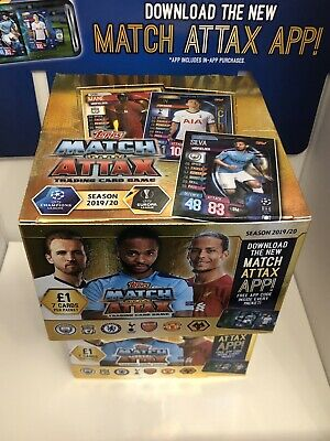 Topps Match Attax 2019/20 Full Box 50 Packets Brand New Sealed 19/20