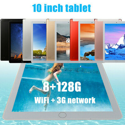 """10.1"""" HD WIFI/4G-LTE IPS PC Tablet Android 8.0 bluetooth 8+128G Dual SIM Cam UK"""