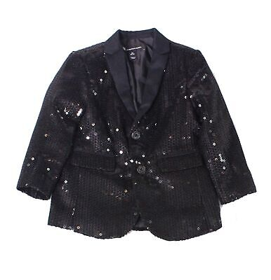 INC Baby Boys Blazer Black US 4T (S) Sequined Two Button Notch-Collar $99 019