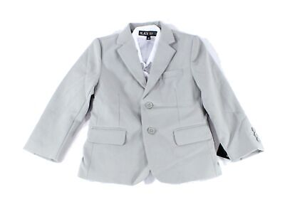 Black N Bianco Baby Boys Suit Seperate Gray US Size 4T Notched-Lapel $48 643
