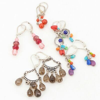 Sterling Silver - Lot of 5 Assorted Beaded Pairs of Earrings NOT SCRAP - 16.5g