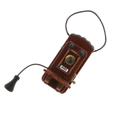 M9.7 NON WORKING 1//12th scale DOLLS HOUSE WOODEN WALL TELEPHONE