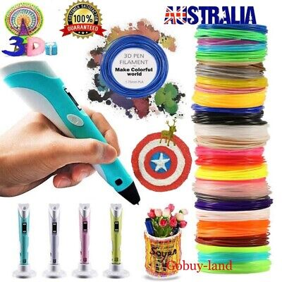 3D Stereoscopic Doodler Printing Pen with LCD Screen Version + 10X10M Filaments