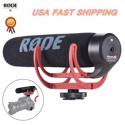 RODE Videomic Go Directional On-Camera Microphone for Canon Nikon Cameras Z4F5