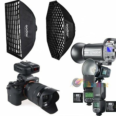 Godox QT400II + AD600BM + V860IIS Flash Strobe + Softbox +X1T-S Trigger For Sony